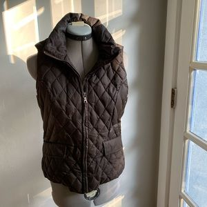 Tommy Hilfiger brown down puffer vest, Sz M